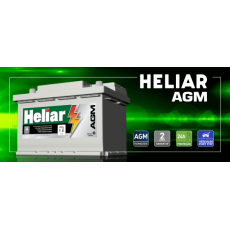 Bateria Heliar AGM - AG60HD / AG70PD / AG80KD / AG95MD / AG105MD - Original de Montadora